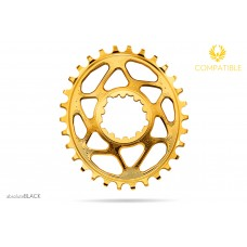 Absolute Black - Sram Oval GXP Gold